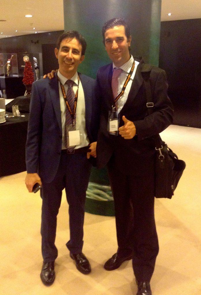 El Dr Bernáldez con el director del Meeting Dr Perez Carro