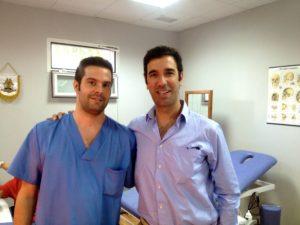 Lucas Fernández y el Dr. Bernáldez