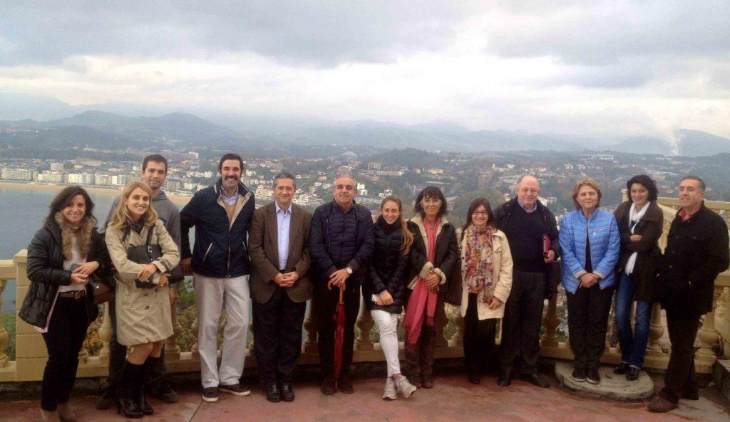 Profesores VII Curso Eco MSK (Dr Javier de la Fuente) Monte Igeldo San Sebastián Oct 2015