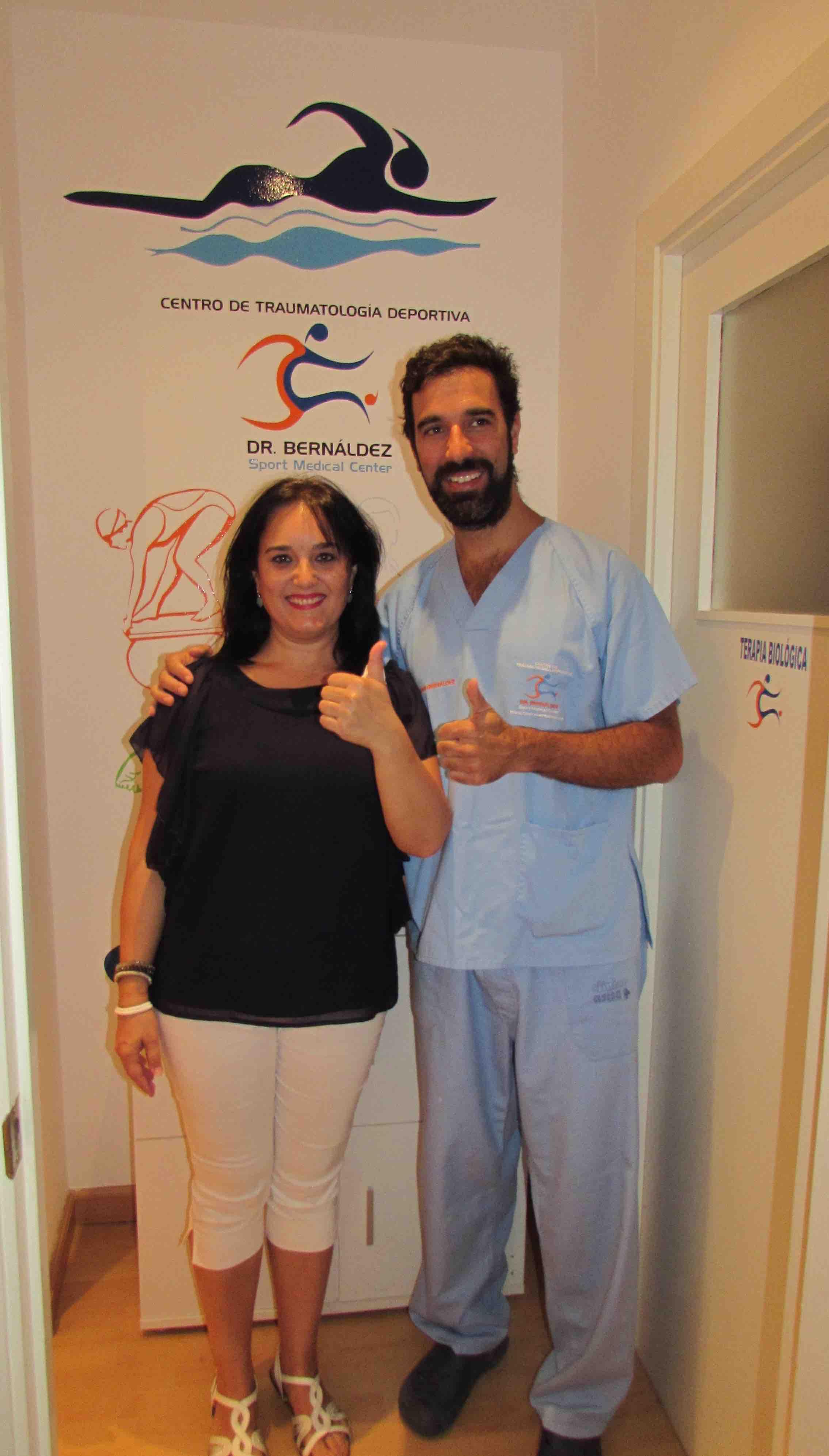 Testimonio de Dedo en resorte curado tecnica percutanea