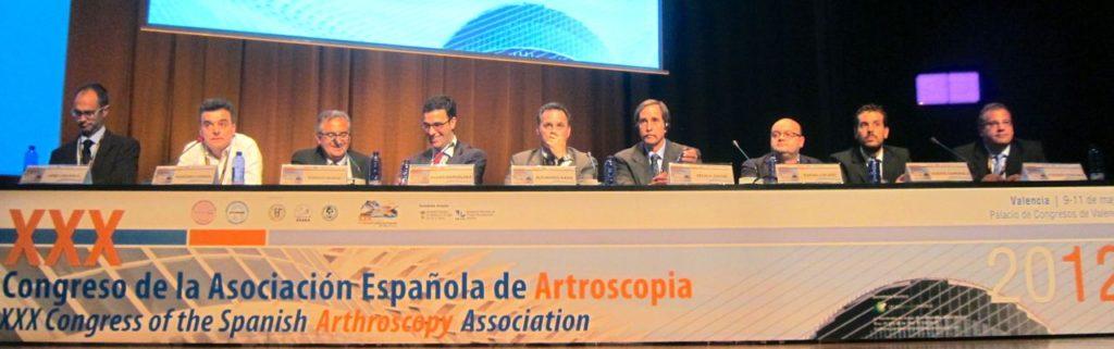 mesa de Ponentes Congreso Artroscopia