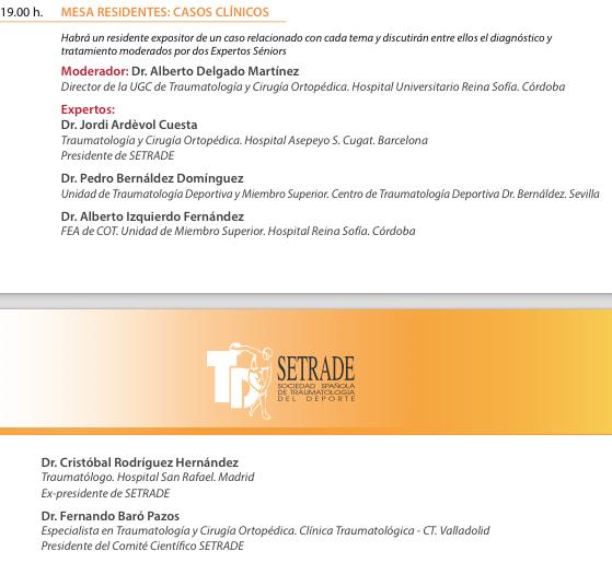 Invitación Experto mesa residente Dr. Pedro Bernáldez