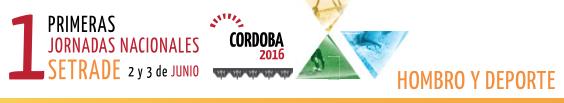 Participación en las I Jornadas Nacionales SETRADE (Córdoba)