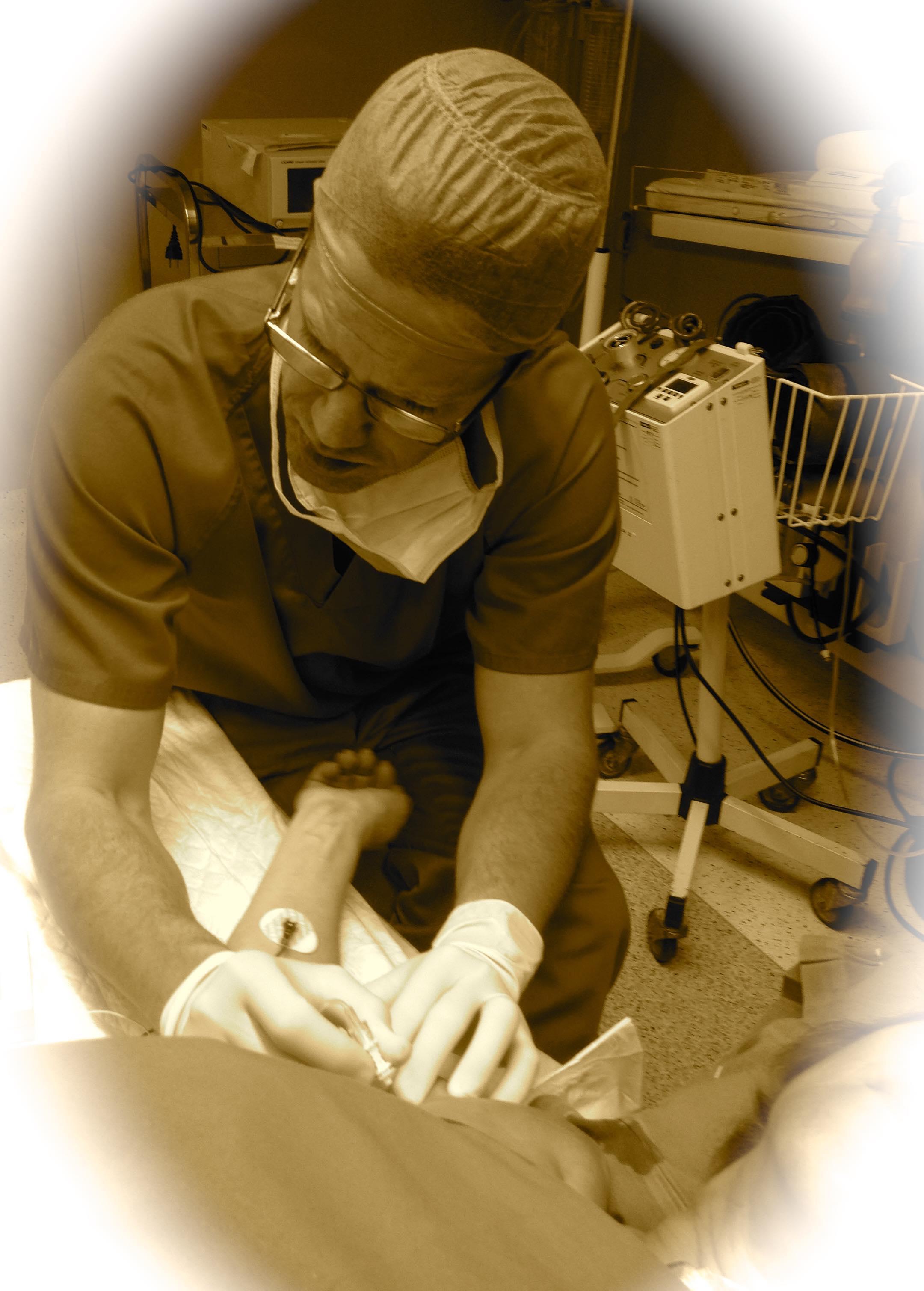 Usamos las técnicas de Anestesia más modernas. Bloqueos Ecoguiados