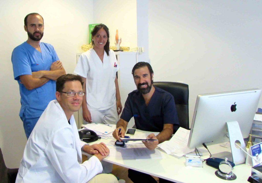 equipo SportMe con el Dr Kemper