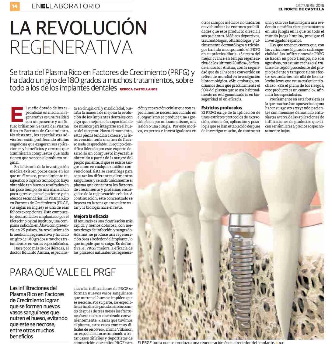 Terapia biológica, sin duda una revolución regenerativa en medicina