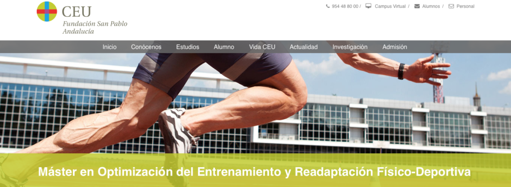 SportMe centro de referencia del II Máster Propio en Optimización del Entrenamiento y Readaptación Físico-Deportiva