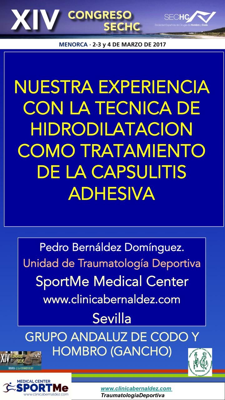 NUESTRA EXPERIENCIA CON LA TECNICA DE HIDRODILATACION COMO TRATAMIENTO DE LA CAPSULITIS ADHESIVA