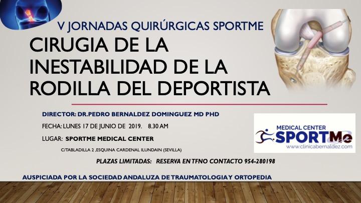 Programa V jornadas cirugía deportiva SportMe