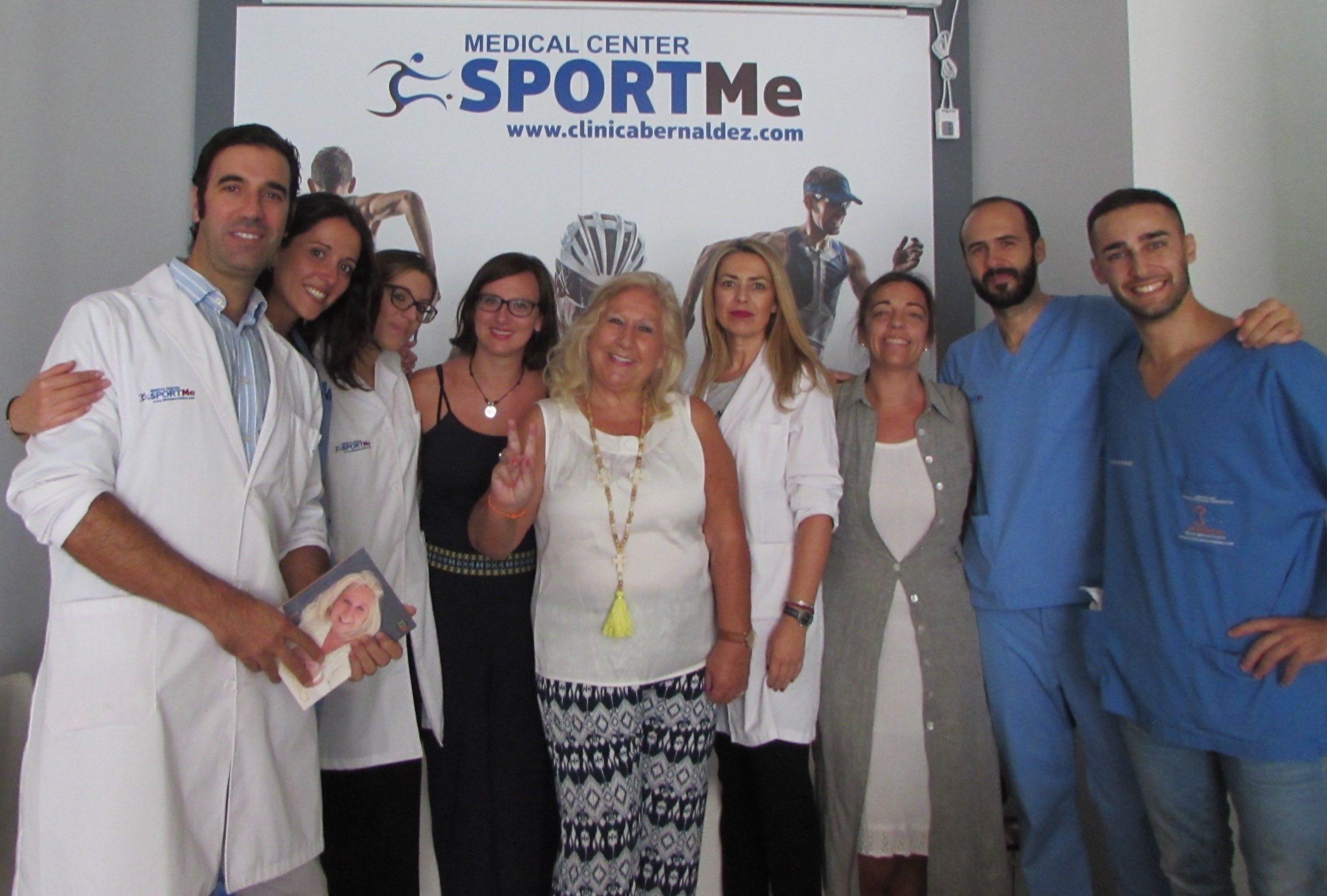 La gratitud del paciente con nuestro equipo SportMe Medical Center.