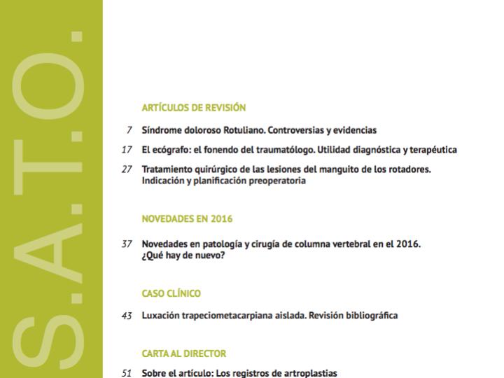 Nueva publicación en Revista de Traumatologia del Dr Bernáldez