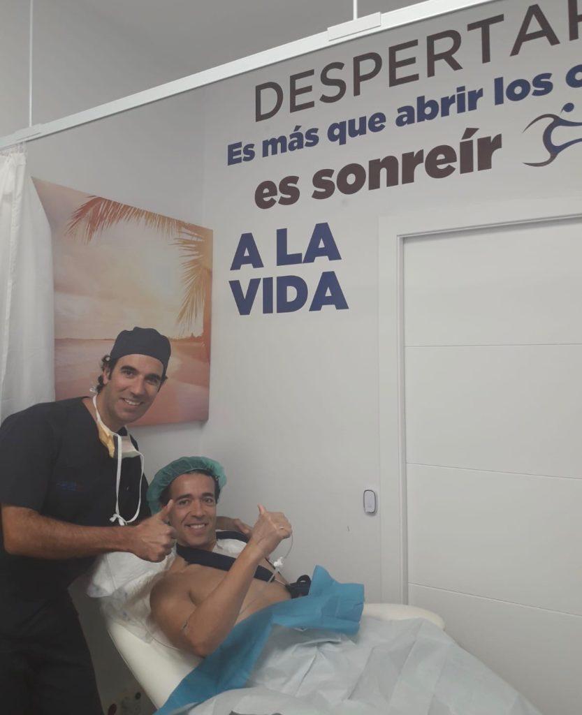 El Torero Víctor Puerto operado con éxito de su hombro izquierdo por el Dr. Pedro Bernáldez en SportMe Medical Center de Sevilla.