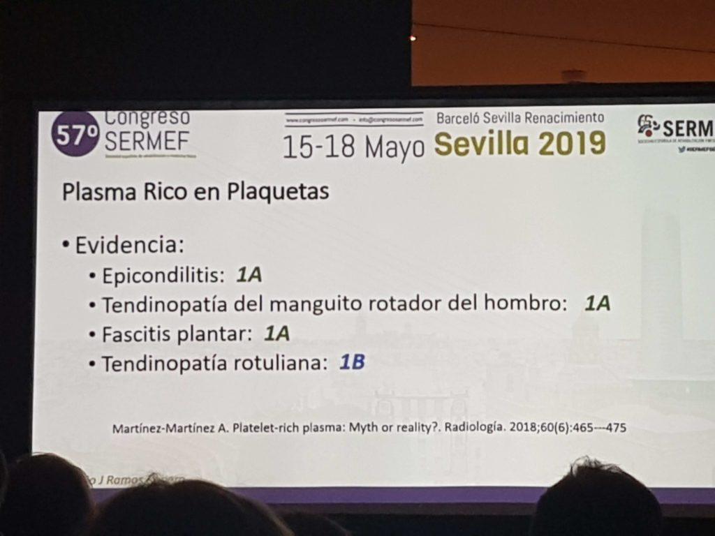 Evidencia PRP en patologia Tendinosa
