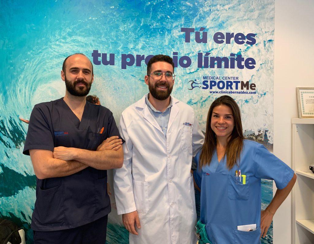 CARLOS PALOMO NUTRICIONISTA CON EQUIPO ENFERMERIA SPORTME