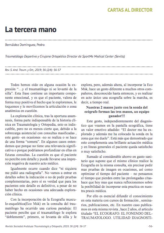 Nueva publicación del doctor Pedro Bernaldez La Tercera Mano.