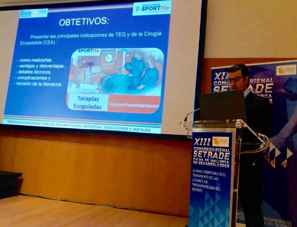 Dr Bernaldez Ponencia sobre Terapias Ecoguiadas en 13 º Congreso NAcional SETRADE Mallorca