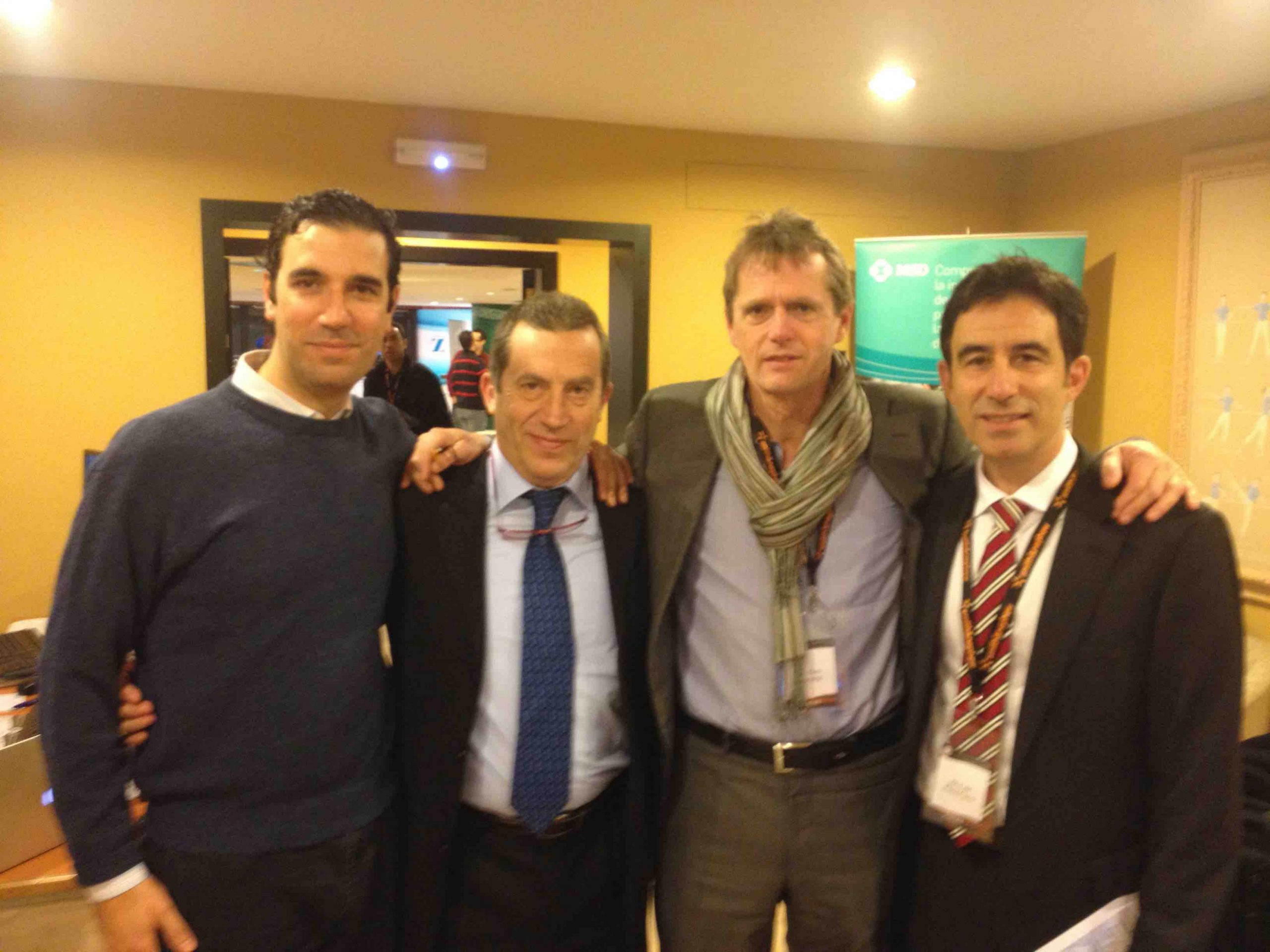 Drs Bernladez,Altisench, Van Dyck y P Carro. 6 th International Arthroscopy Course