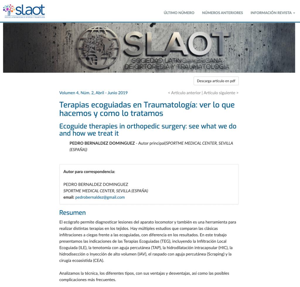 TERAPIAS ECOGUIADAS TEG EN TRAUMATOLOGIA VER LO QUE HACEMOS Y COMO LO TRATAMOS abstract