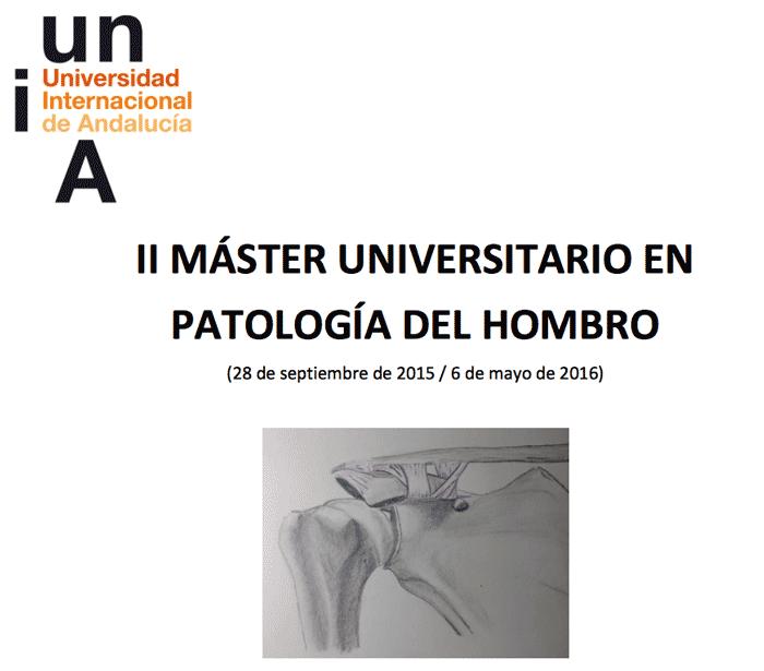 Profesor del II MASTER UNIVERSITARIO EN PATOLOGIA DEL HOMBRO