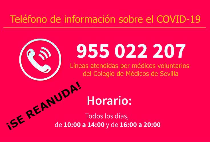 telefono atencion covid 19 fundacion cajasol sevilla REANUDACION