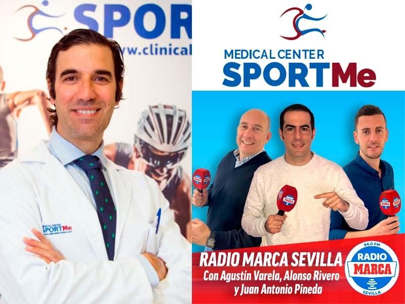 """Entrevistas al Dr Bernáldez """"Salud y Deporte"""" en Radio Marca Sevilla"""