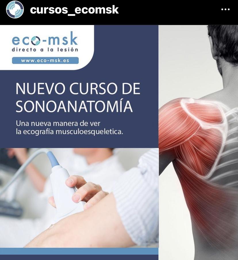 """SportMe organizador de una plataforma de formación médica Curso Eco-Msk """"Directo a la lesión"""""""