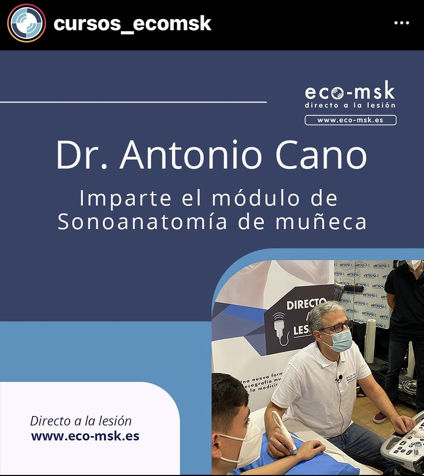 Promo Curso Sonoanatomia Muñeca Curso Eco-Msk