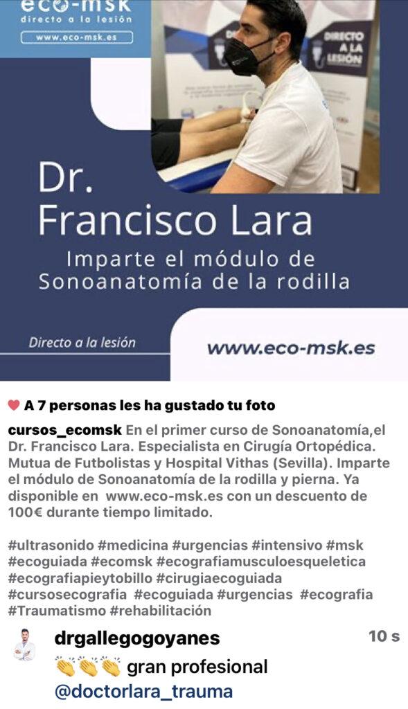 Promo Curso Sonoanatomia Rodilla Curso Eco-Msk